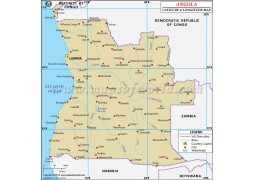 Angola Latitude and Longitude Map