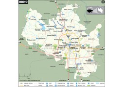 Brno City Map