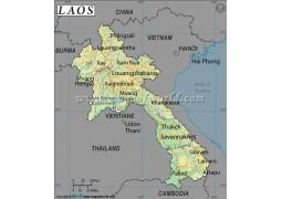 Laos Latitude and Longitude Map