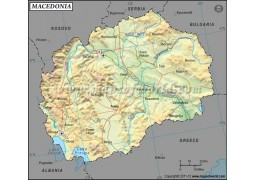 Macedonia Latitude and Longitude Map
