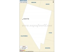 Nevada Outline Map