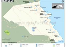 Protaras Map