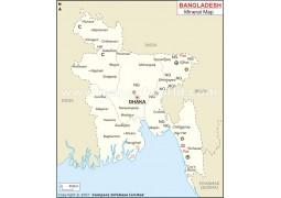 Bangladesh Mineral Map