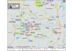 Birmingham City Map, UK