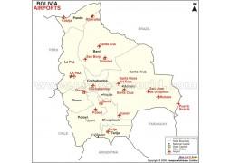 Bolivia Airports Map