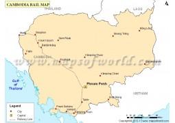 Cambodia Rail Map