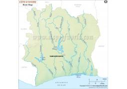 Cote d'Ivoire (Ivory Coast) River Map