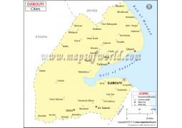 Djibouti Cities Map