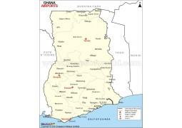 Ghana Airports Map