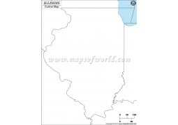 Blank Map of Illinois