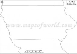 Iowa Outline Map