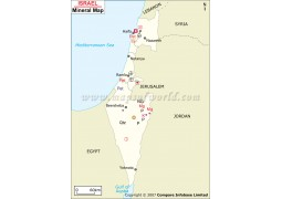 Israel Mineral Map
