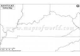 Blank Map of Kentucky
