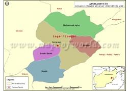Logar Province Map