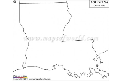 Blank Map of Louisiana