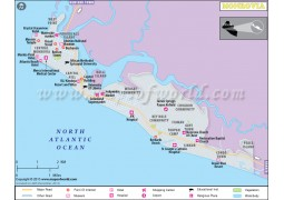 Monrovia City Map