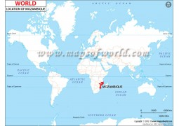 Mozambique Location Map