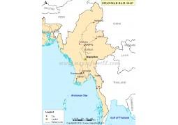 Myanmar Rail Map