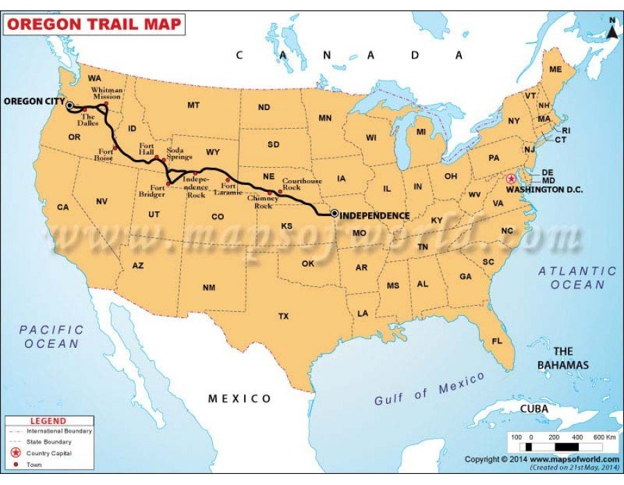 an introduction to the geography of the oregon trail Until 2011, the only major professional sports team in oregon was the portland trail blazers of the national basketball association from the 1970s to the 1990s, the.
