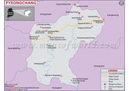 Pyeongchang Map