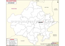 Rajasthan Outline Map