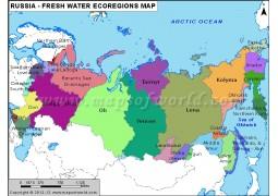 Russia Freshwater Ecoregions Map