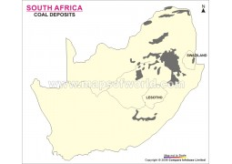 South Africa Coal Deposits Map