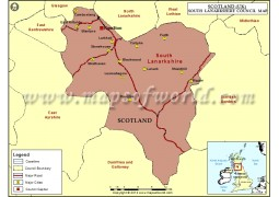 Map of South Lanarkshire Council