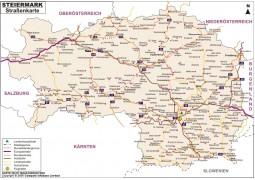 Straßenkarte Styria