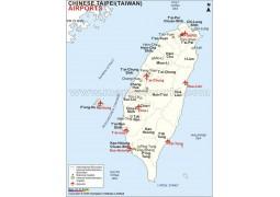 Taiwan Airports Map