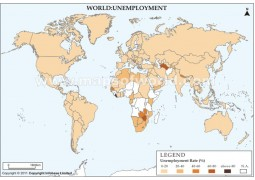 World Unemployment Map