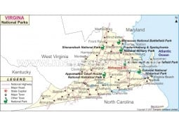 Virginia National Parks Map