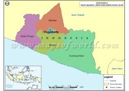 Yogyakarta Map, Indonesia
