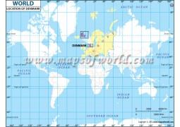 Denmark Location on World Map