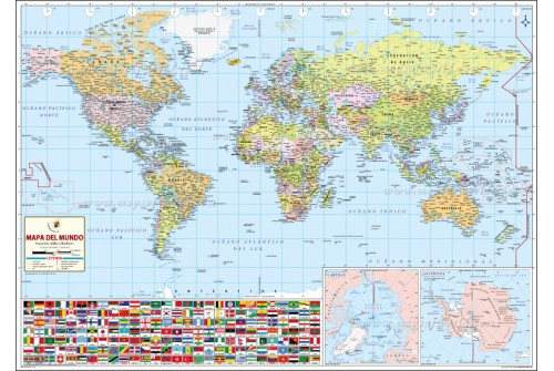 World Map – Spanish