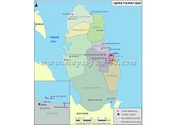 Qatar Tourist Attractions Map - Digital File