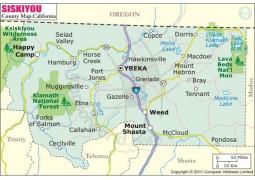 Siskiyou County Map