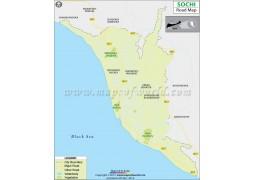 Sochi Road Map - Digital File