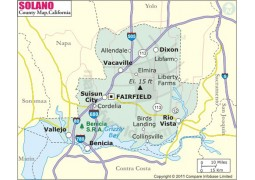 Solano County Map