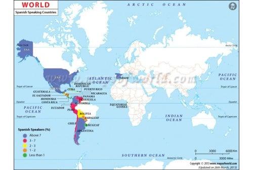 Spanish Speaking Countries in World