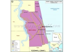 St. Johns County Map - Digital File
