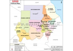 Sudan Political Map - Digital File