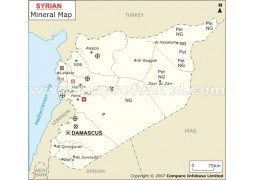 Syria Mineral Map - Digital File