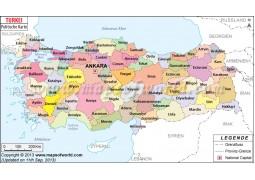 Türkei Karte - Digital File