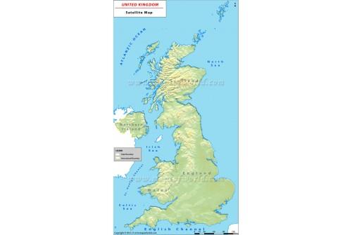 UK Satellite Map
