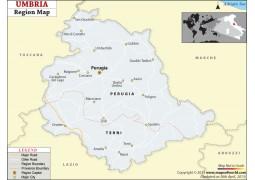 Umbria Region Map - Digital File