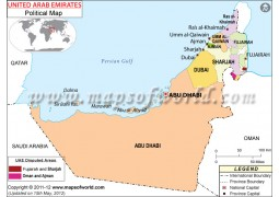 Carte des Emirats Arabes Unis - Digital File