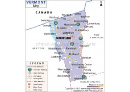 Map of Vermont - Digital File