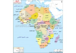 Africa Political Map In Arabic