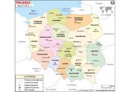 Poland Map In Spanish